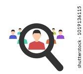 human resources. magnifier...   Shutterstock .eps vector #1019136115