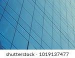 blue glass windows of modern... | Shutterstock . vector #1019137477