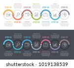 infographic template with 7... | Shutterstock .eps vector #1019138539
