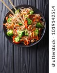 fried soba noodles with... | Shutterstock . vector #1019142514
