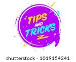 vector tips and tricks cartoon... | Shutterstock .eps vector #1019154241