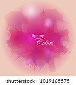 grunge watercolor background... | Shutterstock .eps vector #1019165575