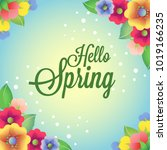 colored spring flower card | Shutterstock .eps vector #1019166235
