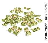 set of money. packing in... | Shutterstock .eps vector #1019174341