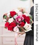 beautiful luxury bouquet of... | Shutterstock . vector #1019175415