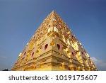 buddhagaya pagoda in... | Shutterstock . vector #1019175607