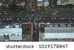 parking lot at manado city | Shutterstock . vector #1019178847