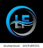 initial letter logo lf company... | Shutterstock .eps vector #1019189251