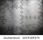 old steel metallic background... | Shutterstock . vector #1019189374