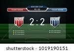 soccer scoreboard team a vs... | Shutterstock .eps vector #1019190151