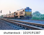 trains powered on rails | Shutterstock . vector #1019191387