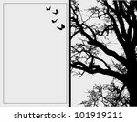 black and white vector tree | Shutterstock .eps vector #101919211
