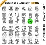 future of shopping concept...