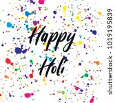 happy holi bright colorful...   Shutterstock .eps vector #1019195839