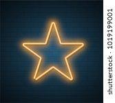 star neon frame. vector... | Shutterstock .eps vector #1019199001
