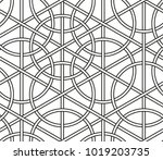interlaced circles  seamless... | Shutterstock .eps vector #1019203735