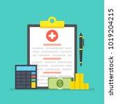 medical insurance  medical care ... | Shutterstock .eps vector #1019204215