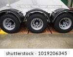 big truck tire. | Shutterstock . vector #1019206345
