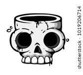 skull icon. t shirt print or... | Shutterstock .eps vector #1019206714