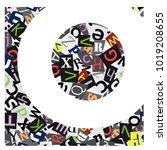 vector geometric initial letter ... | Shutterstock .eps vector #1019208655