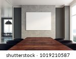 contemporary boarding room... | Shutterstock . vector #1019210587