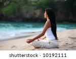 meditation by the beach | Shutterstock . vector #10192111