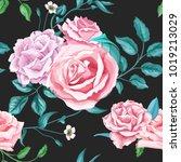 flowers floral vintage fashion... | Shutterstock .eps vector #1019213029