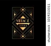 vintage style vector... | Shutterstock .eps vector #1019213311