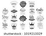 vector set of monochrome...   Shutterstock .eps vector #1019213329
