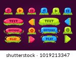 colorful set of various buttons ...
