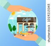 business concept for opening... | Shutterstock .eps vector #1019215345