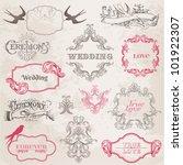 wedding vintage frames and... | Shutterstock .eps vector #101922307