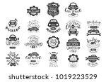 vector set of vintage car... | Shutterstock .eps vector #1019223529