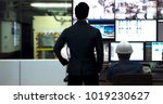 process control room and... | Shutterstock . vector #1019230627