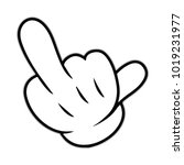 middle finger icon  symbol ... | Shutterstock .eps vector #1019231977