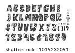 grunge full alphabet and...   Shutterstock .eps vector #1019232091