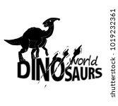 logo world of dinosaurs. vector ... | Shutterstock .eps vector #1019232361