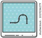 water pipeline flat vector icon. | Shutterstock .eps vector #1019236279