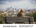 back view of a tourist looking... | Shutterstock . vector #1019236717