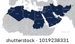 map of middle east.  | Shutterstock .eps vector #1019238331