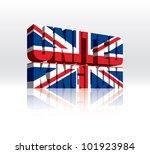 3d vector united kingdom word...   Shutterstock .eps vector #101923984