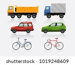 transport icon set | Shutterstock .eps vector #1019248609