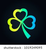 icon clover for luck   with st. ... | Shutterstock .eps vector #1019249095