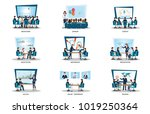 business people of meeting or... | Shutterstock .eps vector #1019250364