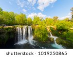 view of the waterfall upper... | Shutterstock . vector #1019250865