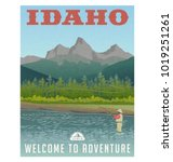 idaho  united states travel... | Shutterstock .eps vector #1019251261