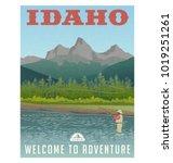 idaho  united states travel... | Shutterstock .eps vector #1019251261