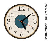 modern wall clock isolated on... | Shutterstock .eps vector #1019255059