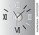 roman numeral clock. vector...   Shutterstock .eps vector #1019255209