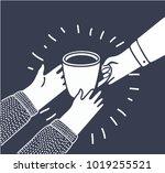 vector illustration in cartoon... | Shutterstock .eps vector #1019255521